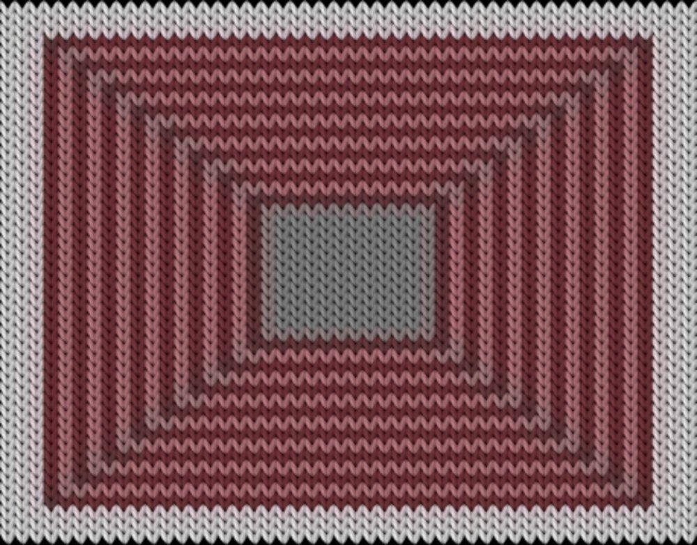 Knitting motif chart, Rectangles