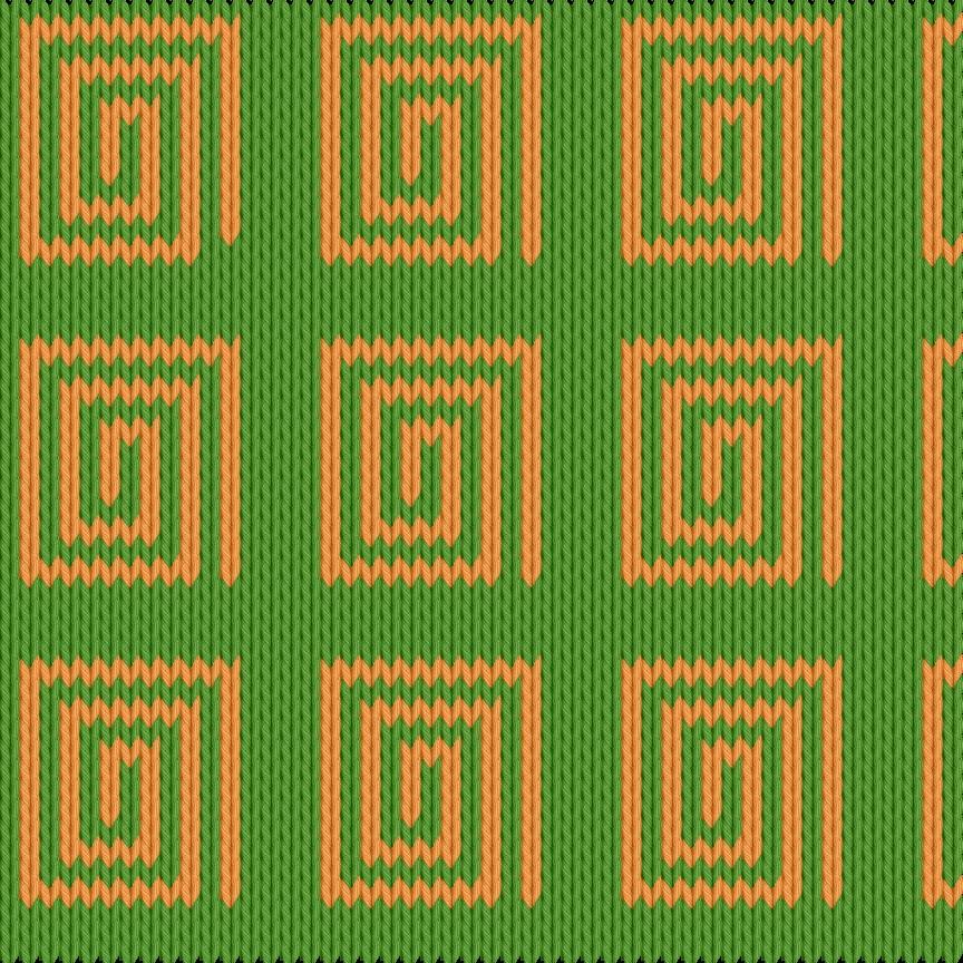 Knitting motif chart, Spirals