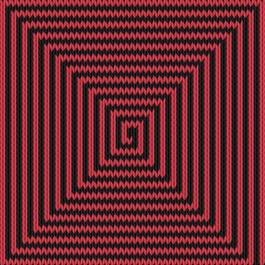 Knitting motif chart, Spiral
