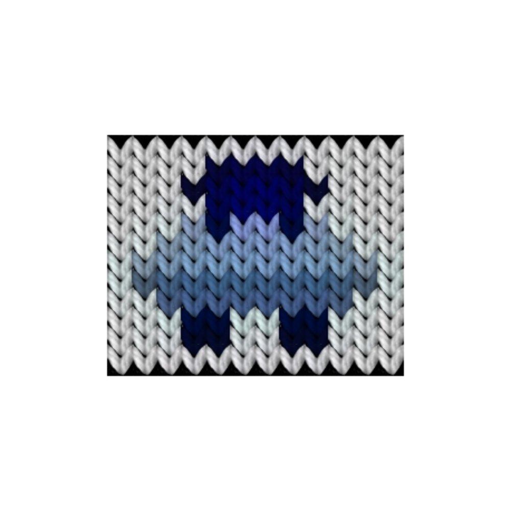 Knitting motif chart, Lamb