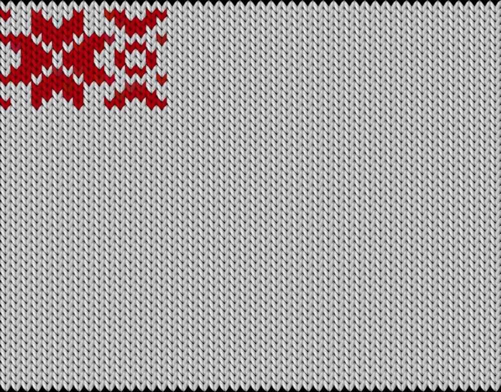 Knitting motif chart, Snoflacke