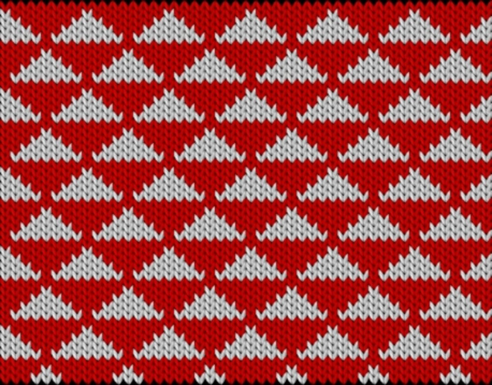 Knitting motif chart, Triangles