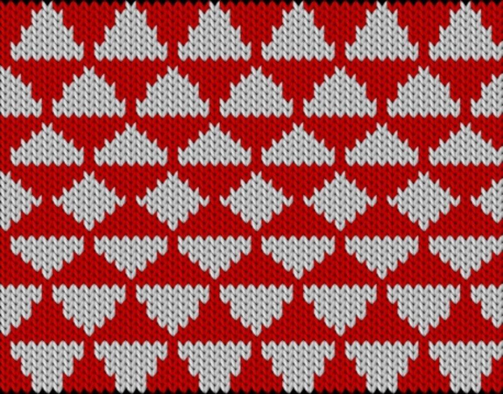 Knitting motif chart, Triangle play