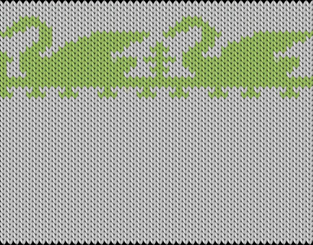 Knitting motif chart, Swans
