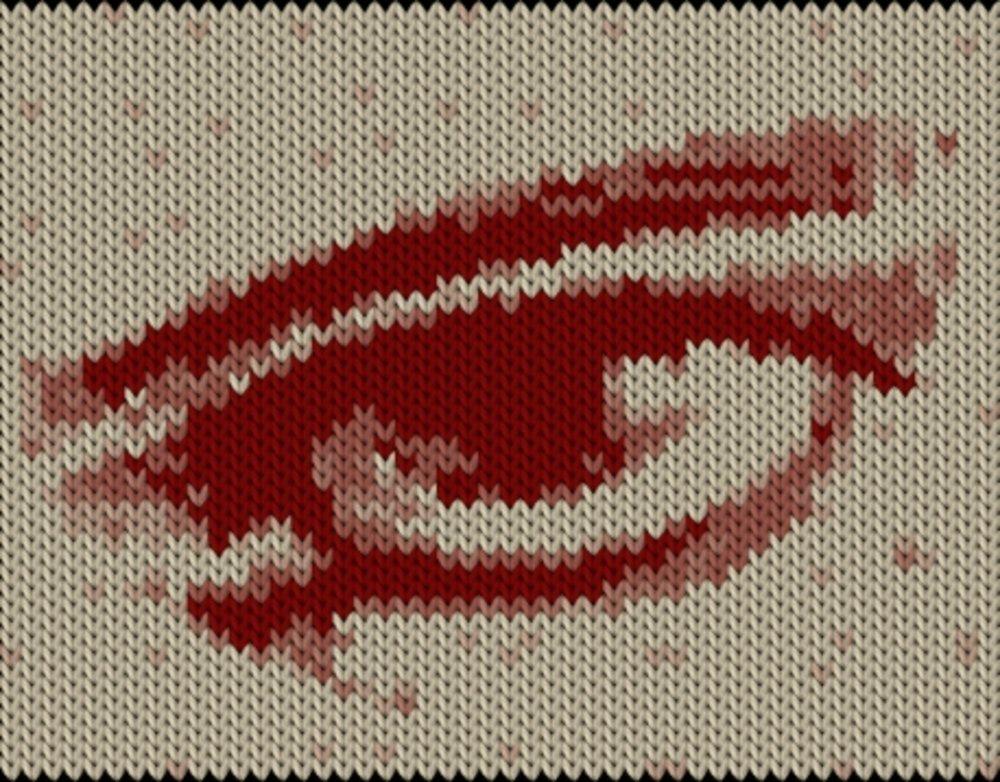 Knitting motif chart, Eye