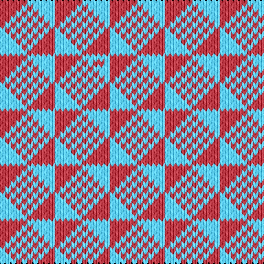 Knitting motif chart, Ölands motif