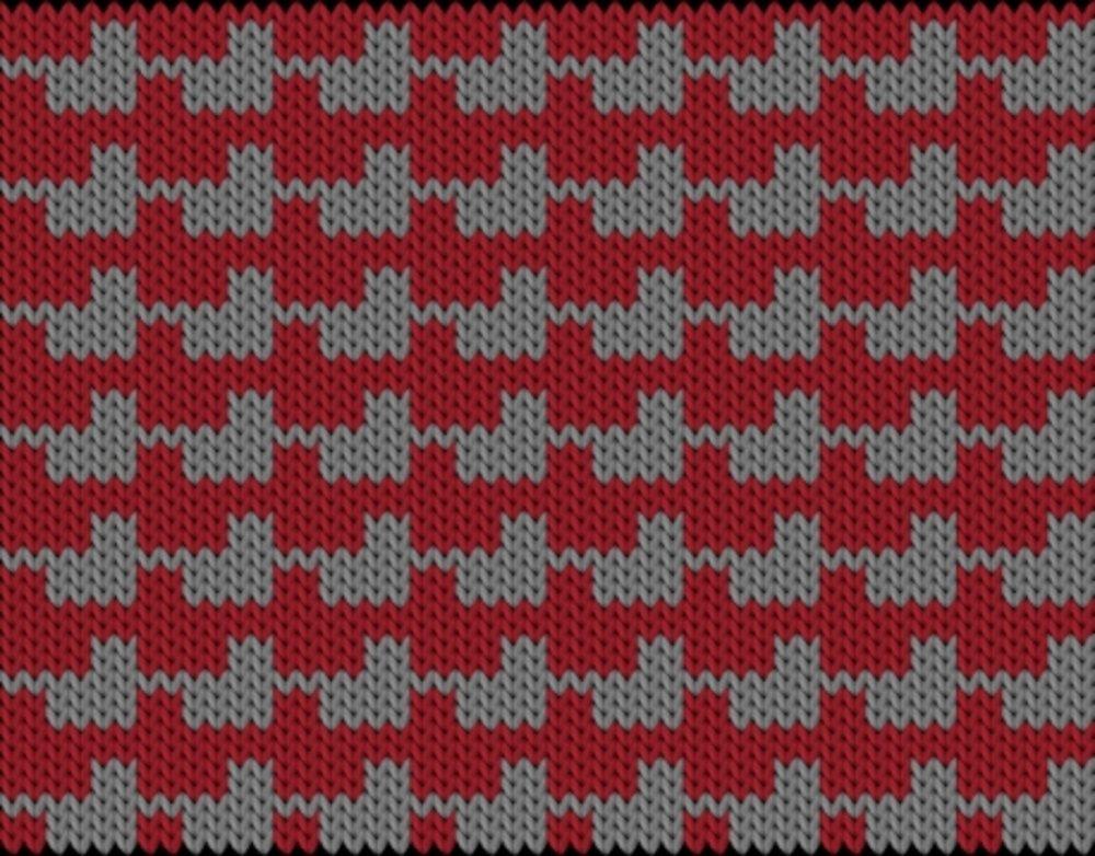 Knitting motif chart, Blister Check pattern