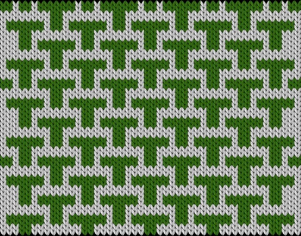 Knitting motif chart, T-Square
