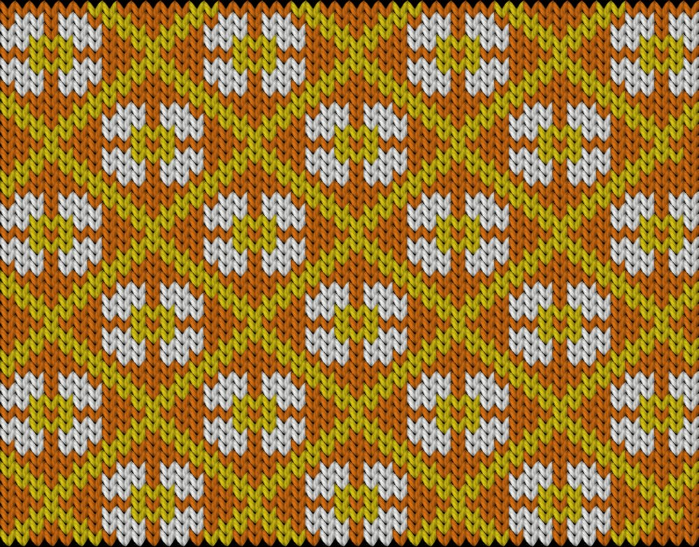 Knitting motif chart, Scandinavian knitting motif