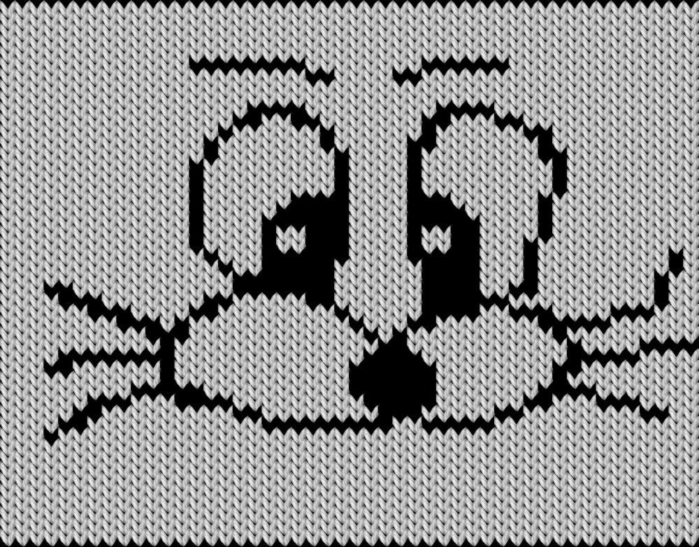 Knitting motif chart, just svart