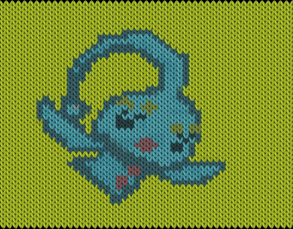Knitting motif chart, Pokemon go - Manaphy