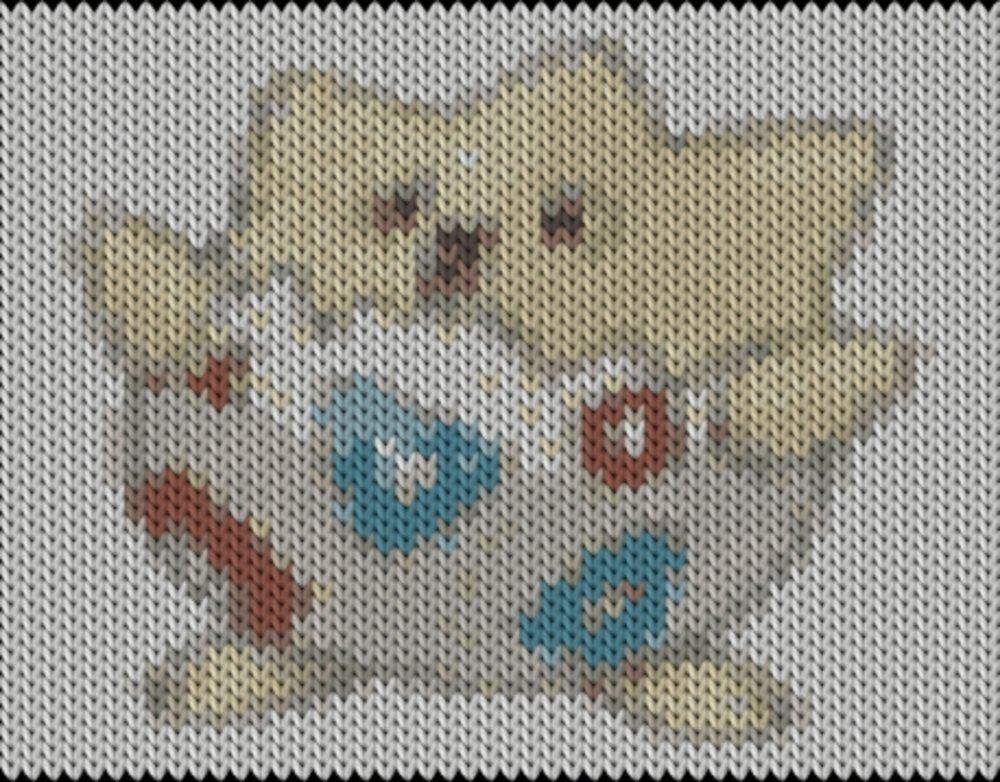 Knitting motif chart, Pokemon go