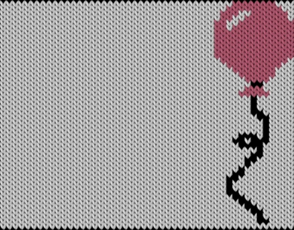Knitting motif chart, Baloon