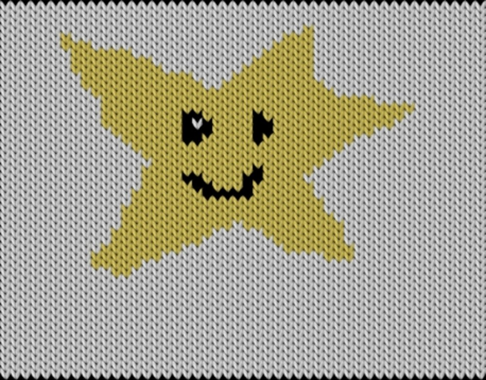 Knitting motif chart, Star