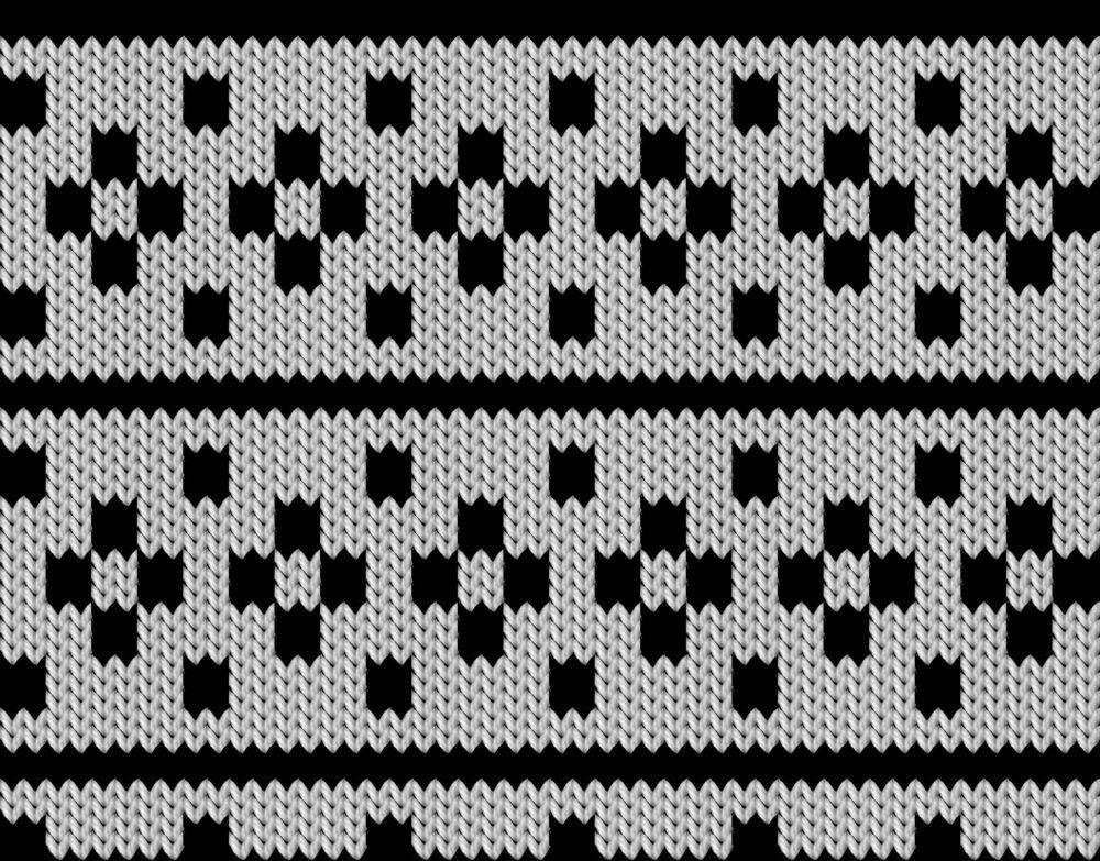 Knitting motif chart, Kloster Block
