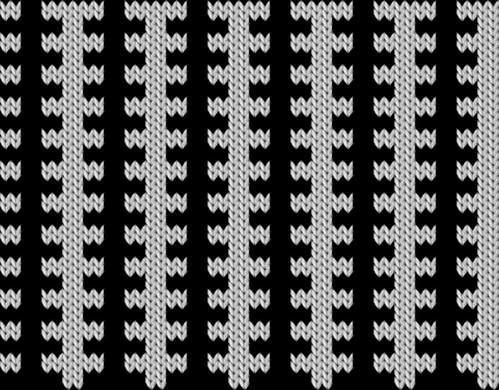 Knitting motif chart, Fransk lilje