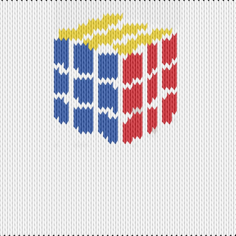 Knitting motif chart, rubik kub