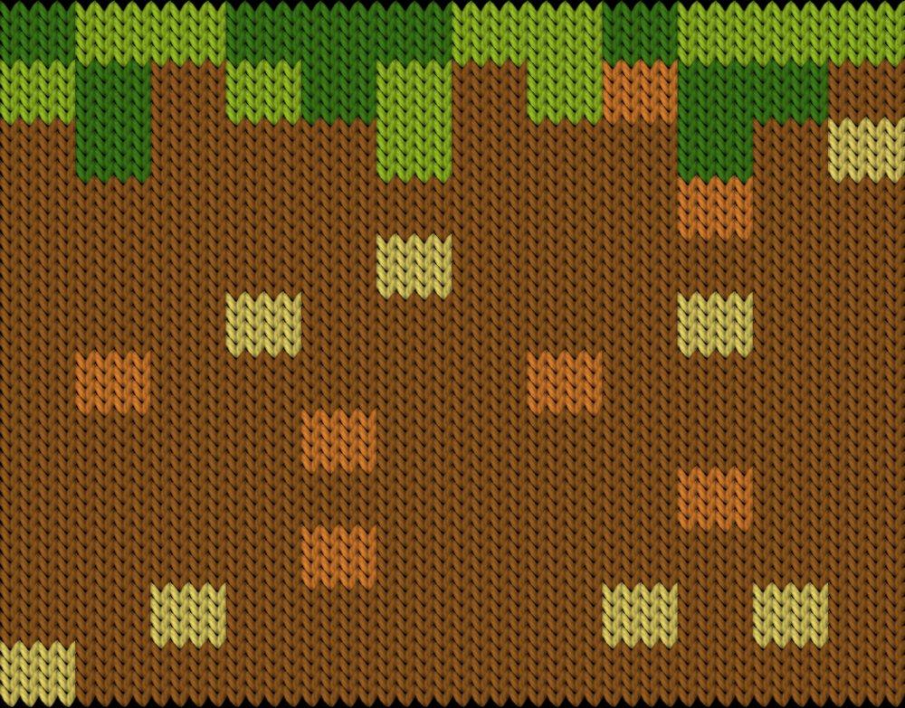 Knitting motif chart, gruva
