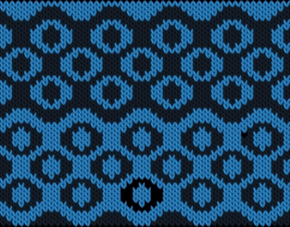 Knitting motif chart, ring