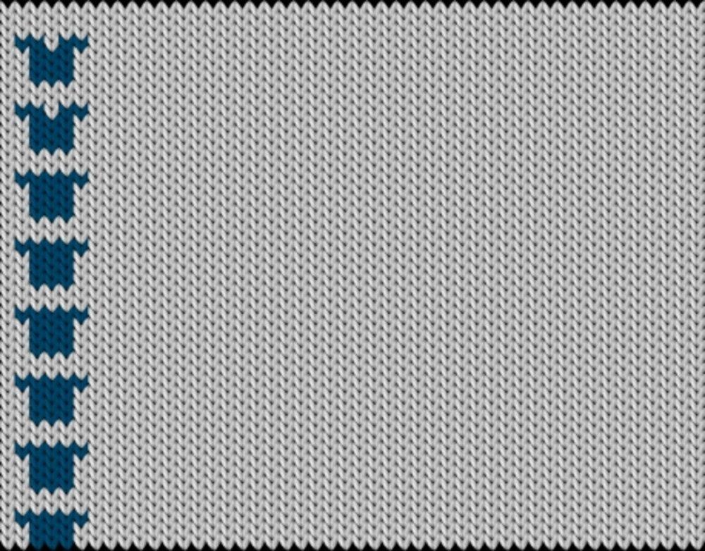 Knitting motif chart, logos