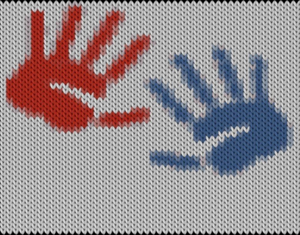 Knitting motif chart, Palms