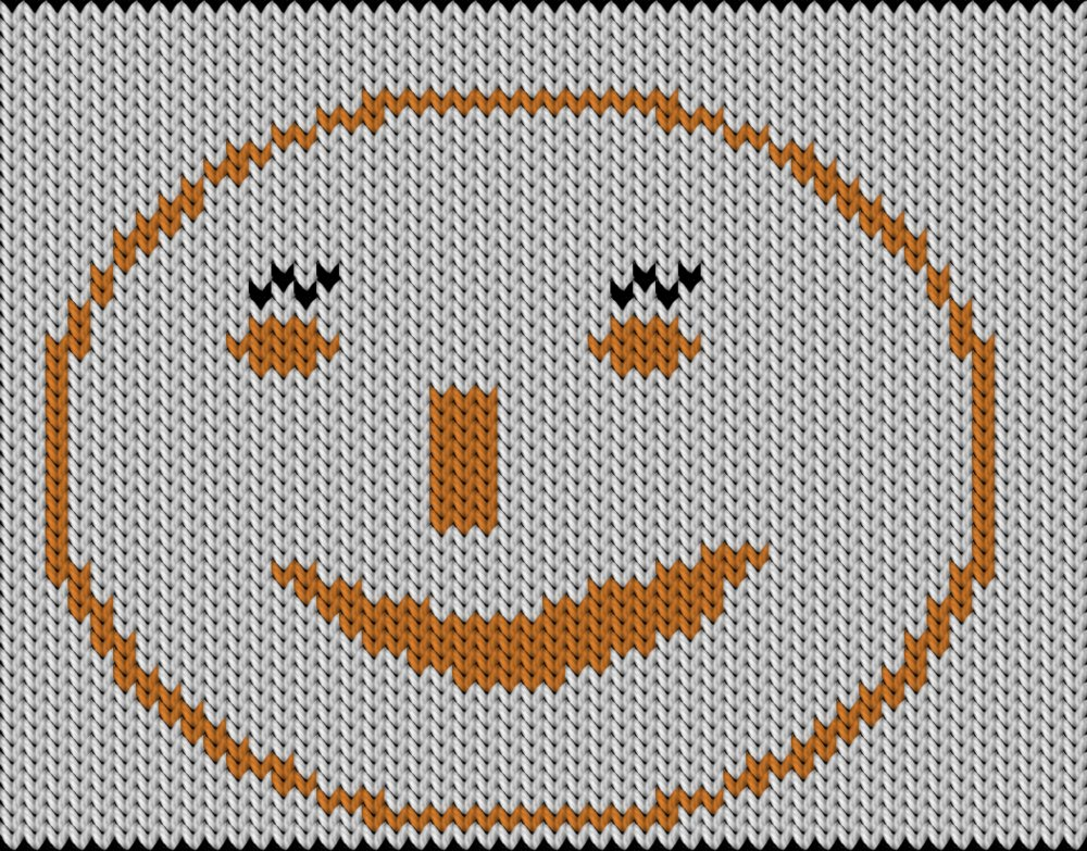 Knitting motif chart, Smile