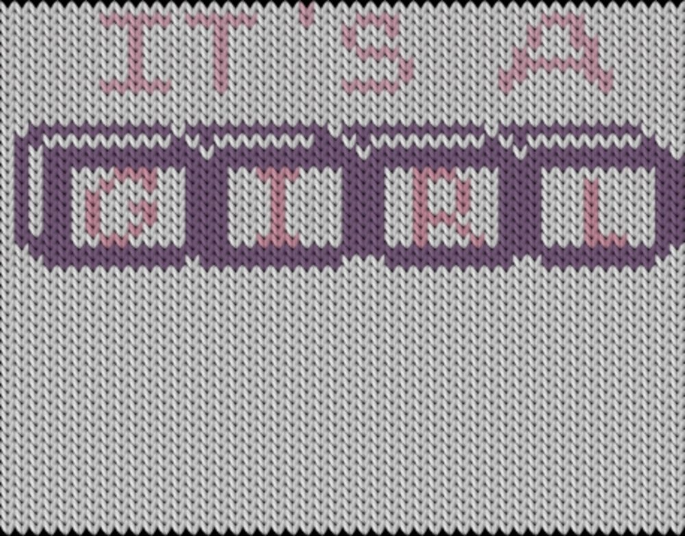 Knitting motif chart, It`s a girl