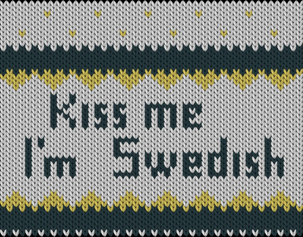 Knitting motif chart, Swedish hat