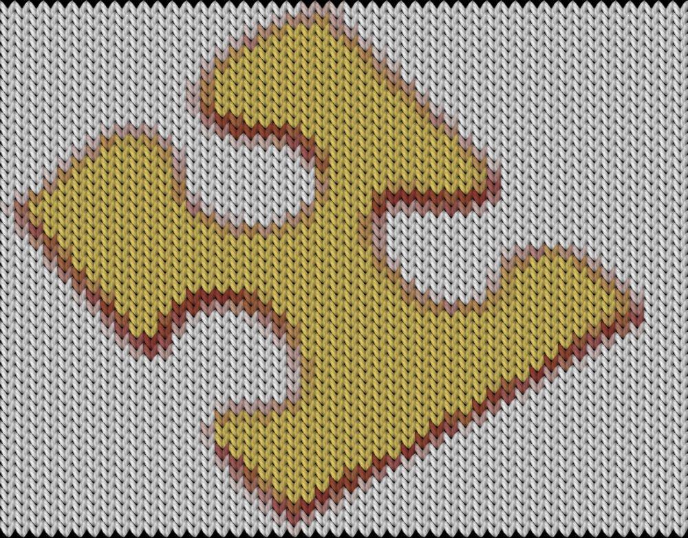 Knitting motif chart, Puzzle
