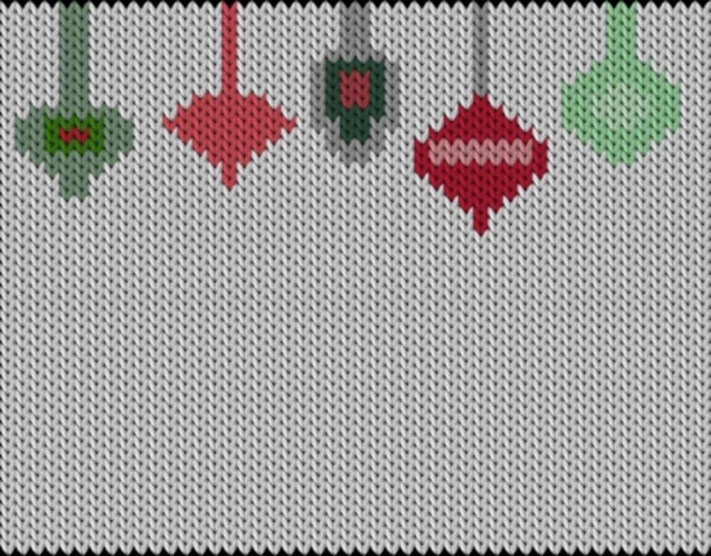 Knitting motif chart, Globs