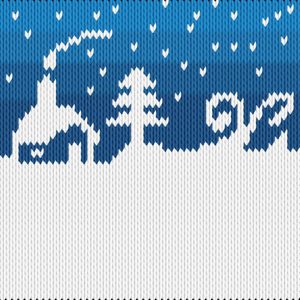 Knitting motif chart, Winter2