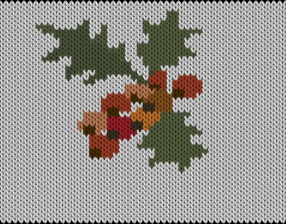 Knitting motif chart, Christmas2
