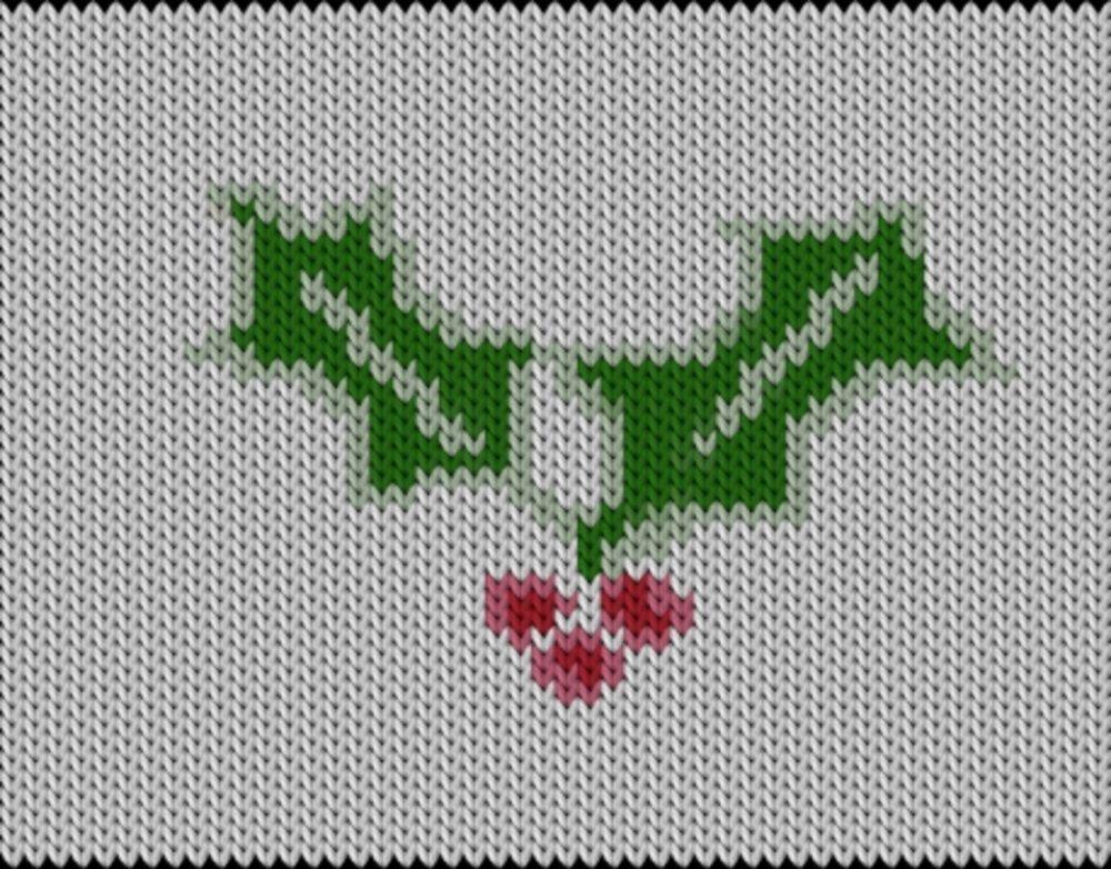 Knitting motif chart, Christmas4