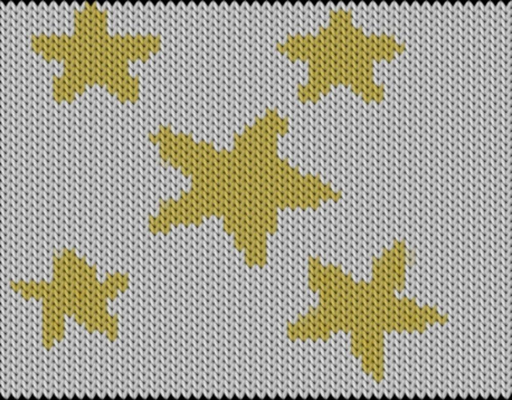 Knitting motif chart, Stars