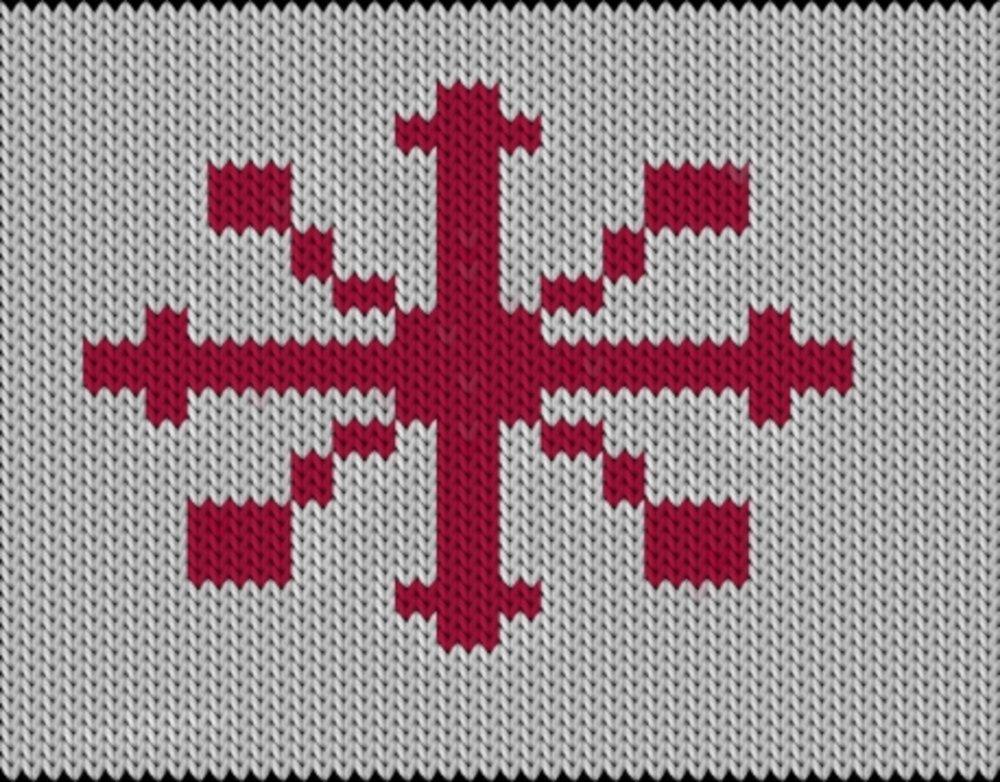 Knitting motif chart, Snowflake - 3