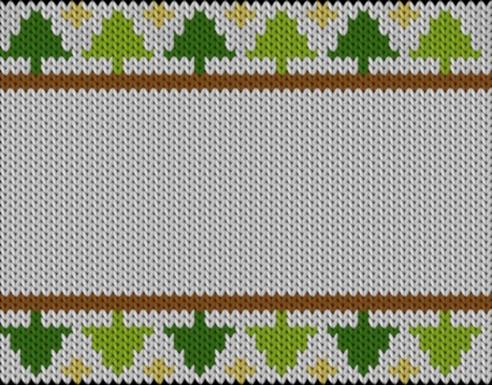 Knitting motif chart, Pinewood with stars