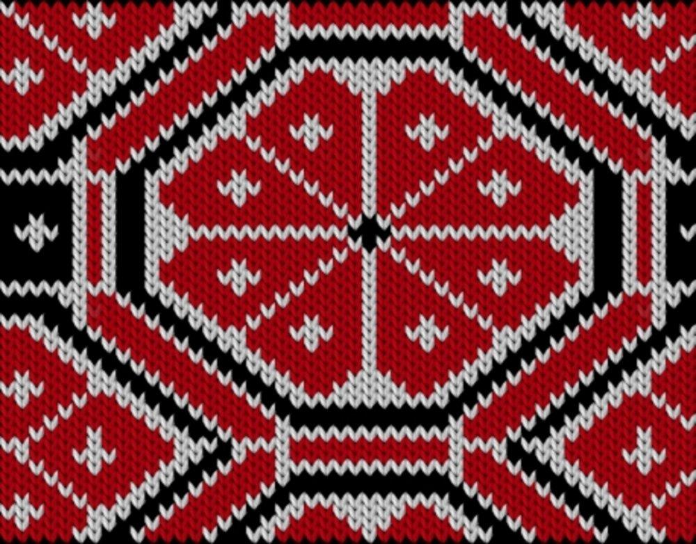 Knitting motif chart, Traditional