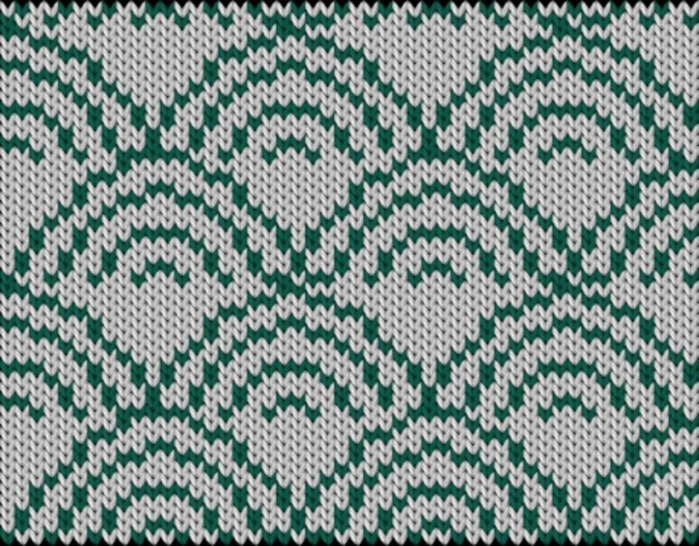 Knitting motif chart, japanese-pattern