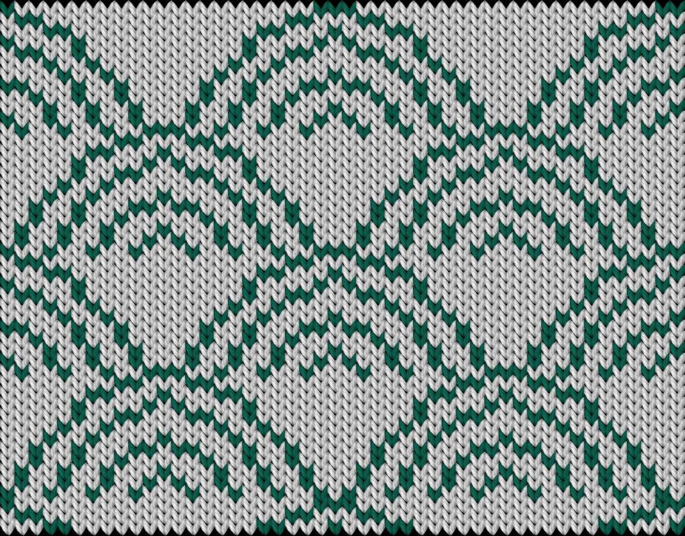 Knitting motif chart, Japanese pattern