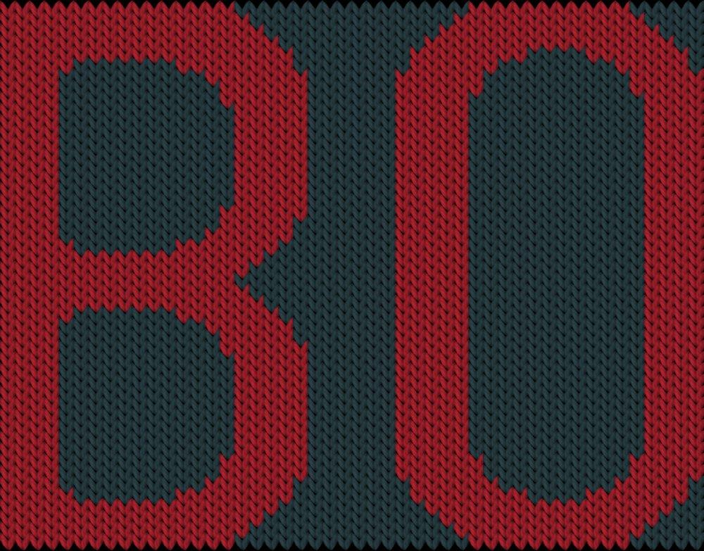 Knitting motif chart, BO