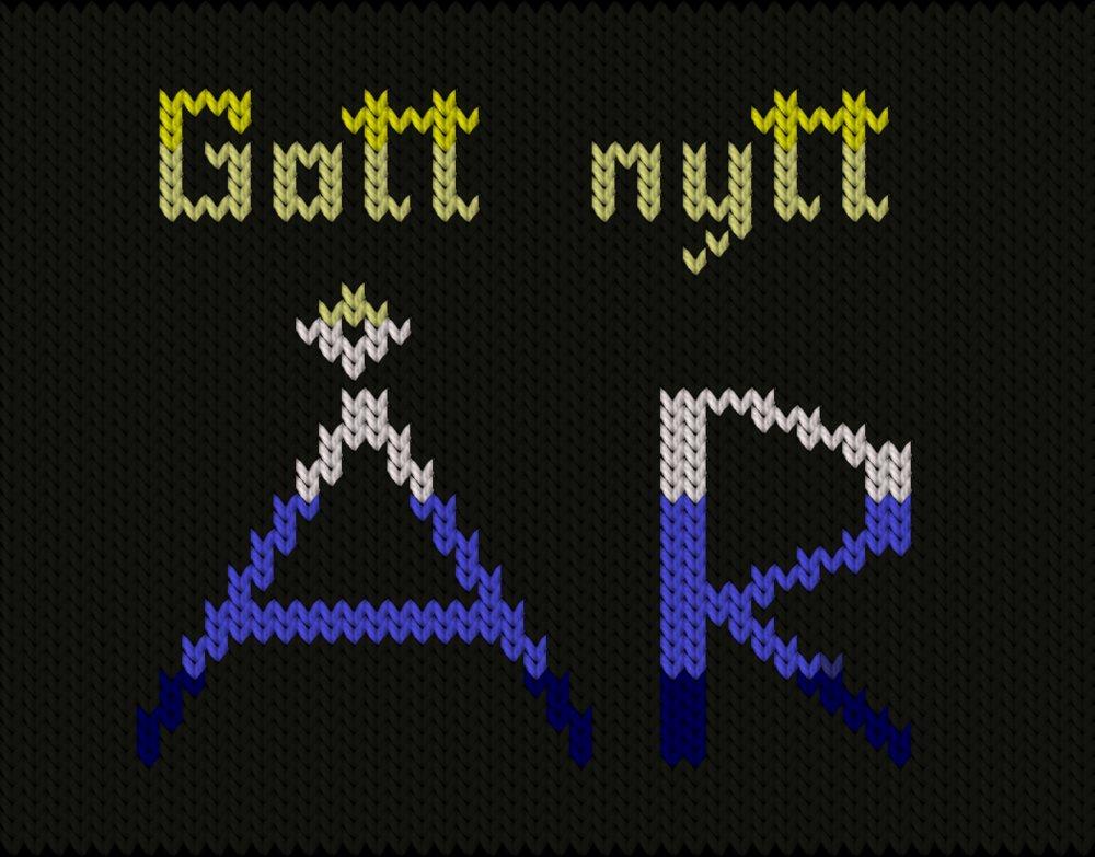 Knitting motif chart, Gott Nytt År!