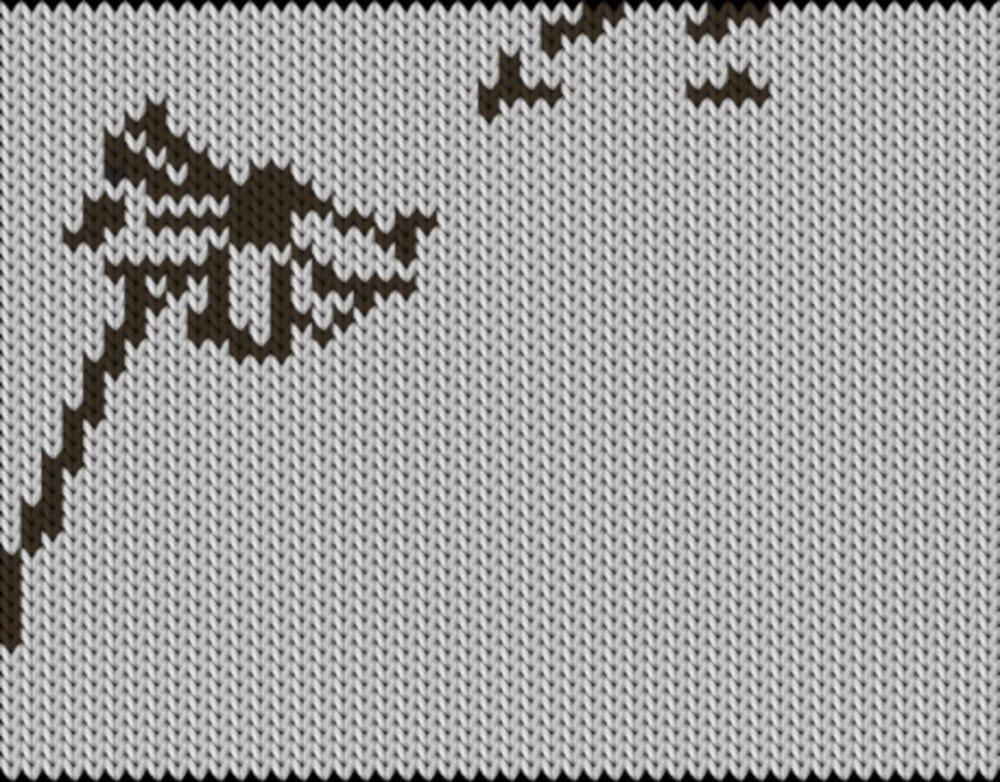 Knitting motif chart, Dandelion
